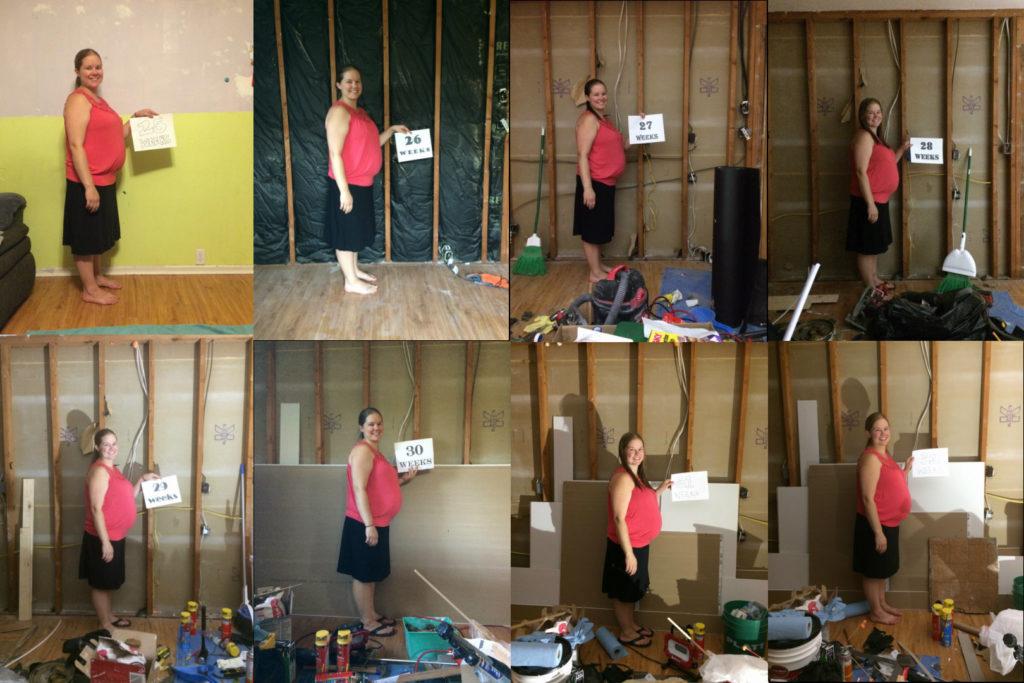 Michelle's week-to-week pregnancy and remodeling transformation (25-32 weeks)