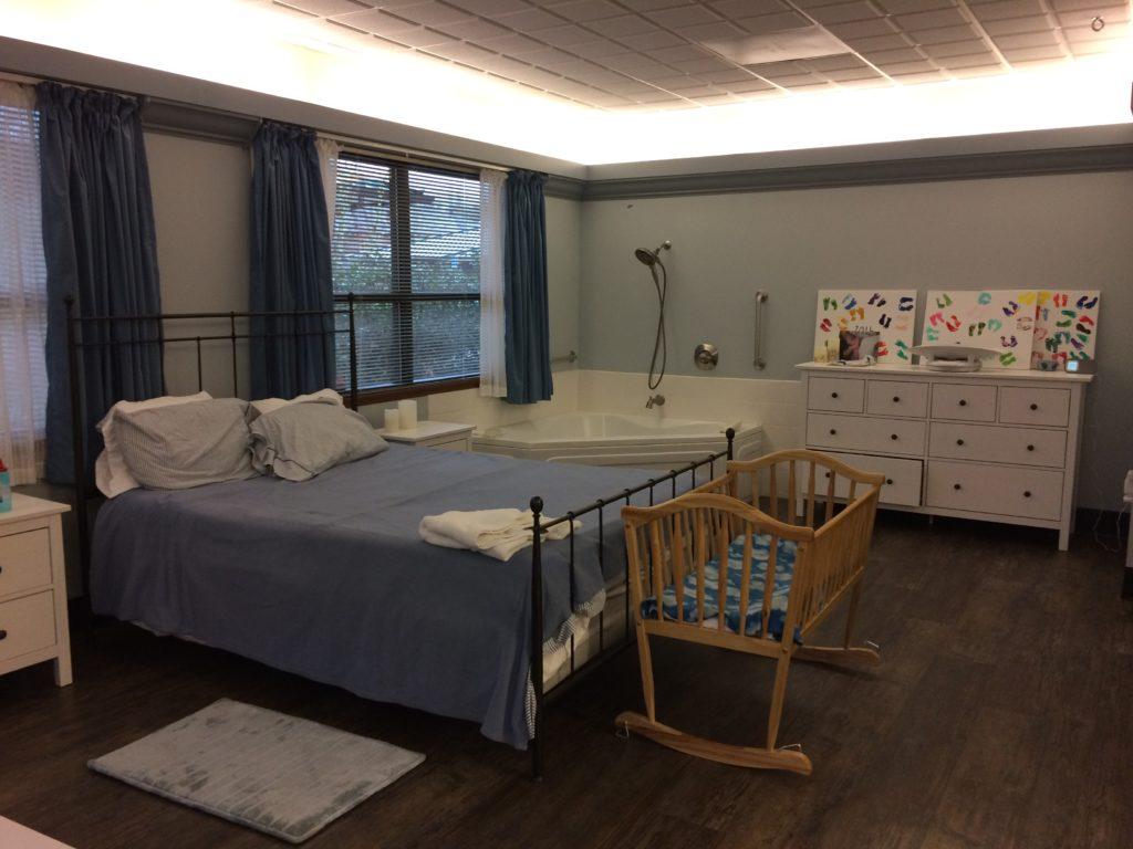Gorgeous birthcenter labor room - Birthful Podcast - Michelle Onaka